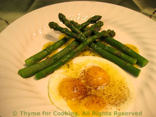 Asparagus with Quail Eggs