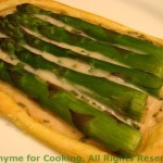 Asparagus Pastries with Tarragon Cream; Eating with your fingers; Weekly Menu Plan