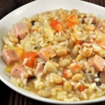 Risotto con Fagioli; Ham and White Bean Risotto