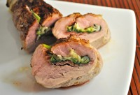 Pork Tenderloin Stuffed with Chives