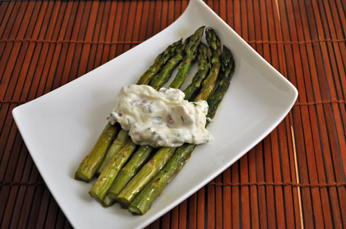 Asparagus with Bacon and Goat Cheese