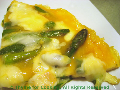 Asparagus and Green Garlic Omelet