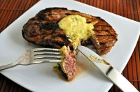 Grilled Lamb Steak with Rosemary Mustard
