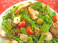 Salad with Chicken and Asparagus