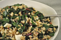 Warm Barley and Chard Salad