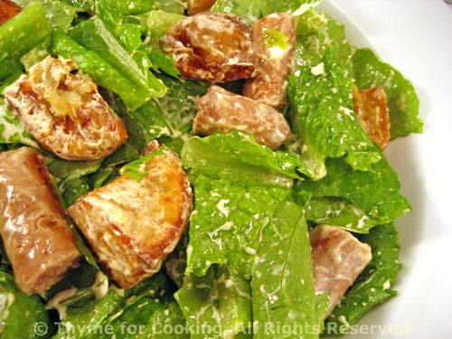 Salad with Sausages and Chevre