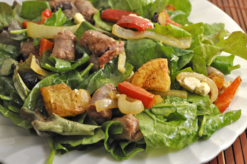 Salad with Sausageand Peppers