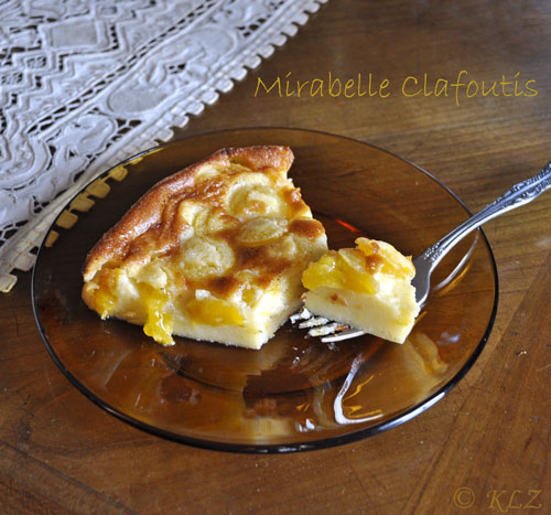 Slice of Mirabelle Clafoutis