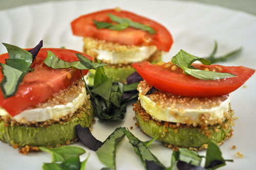 Zucchini and Goat Cheese Stacks