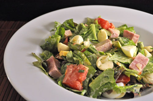 Ham, Asparagus and Mozzarella Salad