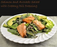 Salmon Salad with Creamy Dill Dressing