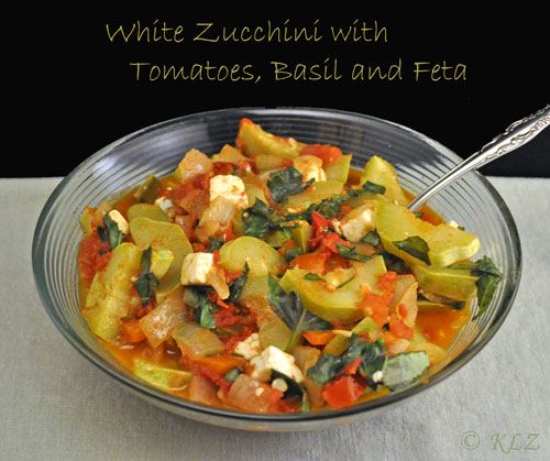 Zucchin with Tomatoes and Feta