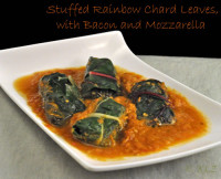 Stuffed Chard Leaves with Bacon
