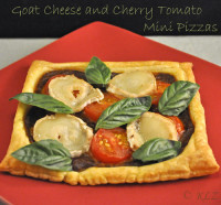 Goat Cheese and Cherry Tomato Pizza