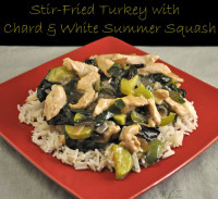 Stir-Fried Turkey with Chard and White Squash