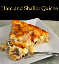 Ham and Shallot Quiche