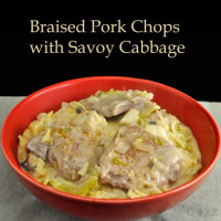 Braised Pork with Creamy Savoy Cabbage