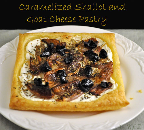 Shallot and Goat Cheese Pastry