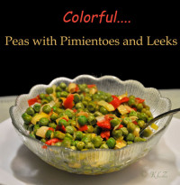 Peas with Pimiento and Leek