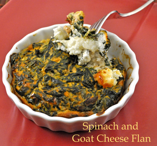 Spinach and Goat Cheese Flan