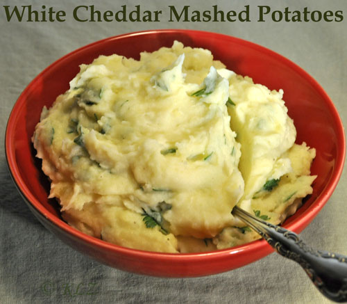 White Cheddar Mash Potatoes