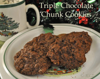 Triple Choclate Chunk Cookies