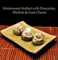 Mushrooms Stuffe with Prosciutto and Goat Cheese