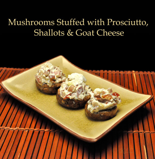 Stuffed Chanterelles With Goat Cheese And Prosciutto Recipe ...