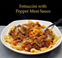 Fettuccini Pepper Meat Sauce