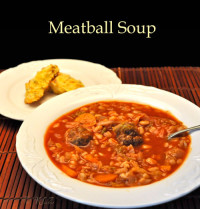 Meatball, Cabbage and Barley Soup