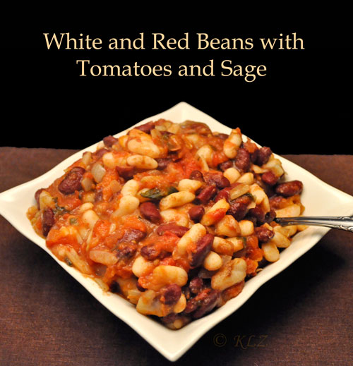 White and Red Beans with Tomatoes and Sage
