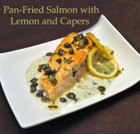 Salmon with Lemon and Capers