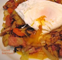 Corned Beef with Poached Eggs
