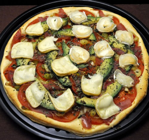 Avocado and Goat Cheese Pizza