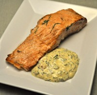 Grilled Salmon, Tarragon Mayonnaise