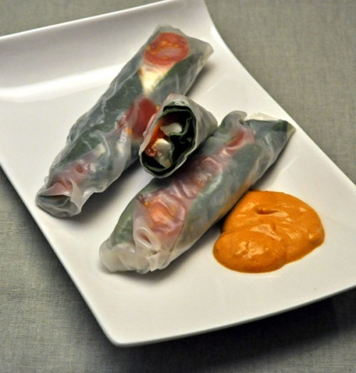 Spinach Summer Rolls
