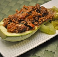 Stuffed Summer Squash with Beef and Quinoa
