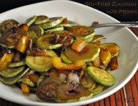 Stir-Fried Zucchini and Peppers