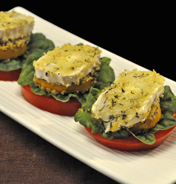 Zucchini Goat Cheese Stacks