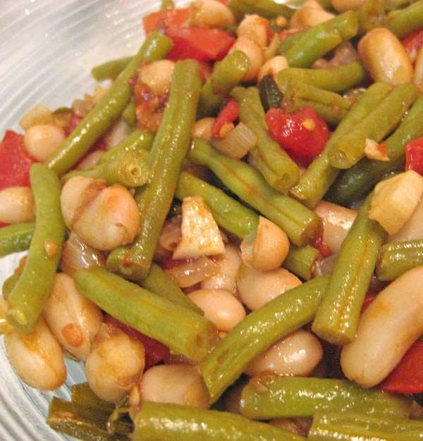 Green and White Beans with Sage