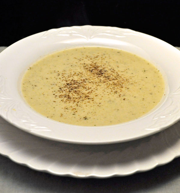 Cream of Celery Soup with Sherry