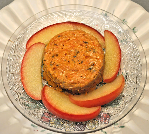Butternut Squash Timbale with Apple Slizes