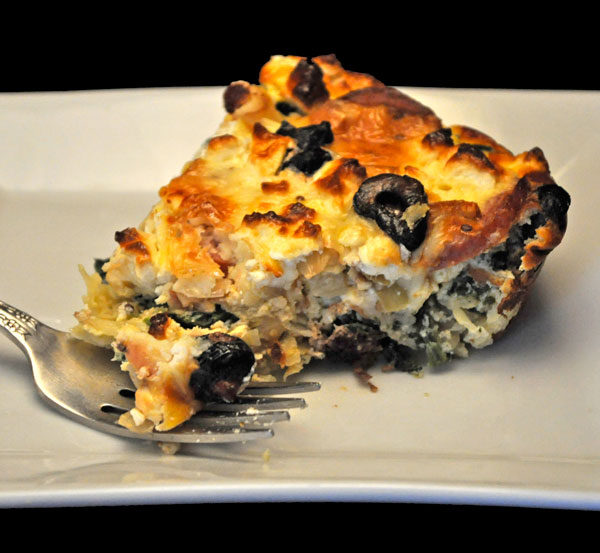 Sausage, Spinach and Feta Quiche