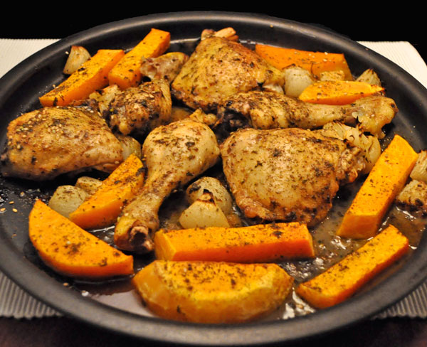Chcken and Butternut Squash with Za'atar
