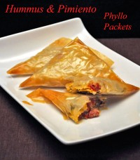 Hummus and Pimiento Samosas