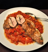 Pork Tenderloin Stuffed with Mozzarella and Spinach