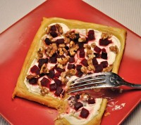 Beet, Walnut and Goat Cheese Tart