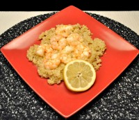 Shrimp Scampi on Quinoa