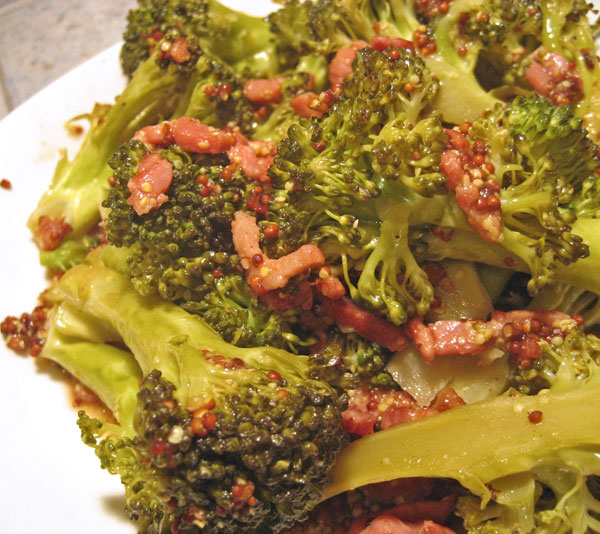 Broccoli with Bacon and Mustard, the update and a question