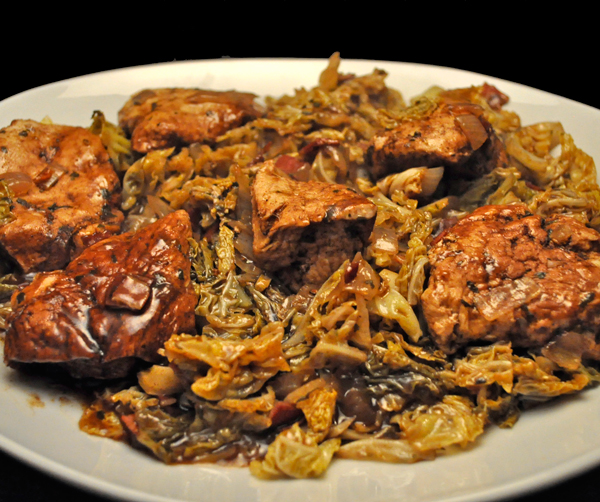 Chicken Breasts with Balsamic Cabbage